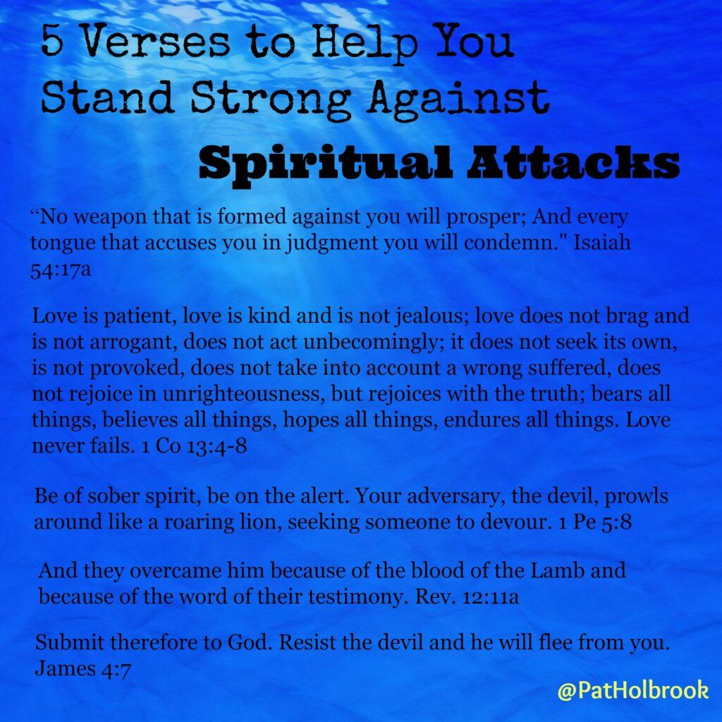 5 verses spiritual attack